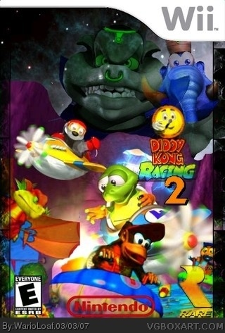 Diddy Kong Racing 2 Wii Box Art Cover By Warioloaf
