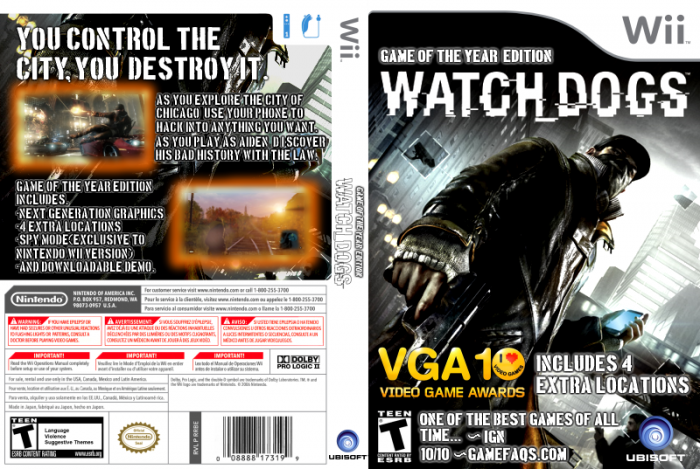 Watch Dogs Wii Box Art Cover by donnyfan Watch Dogs Ps4 Box Art