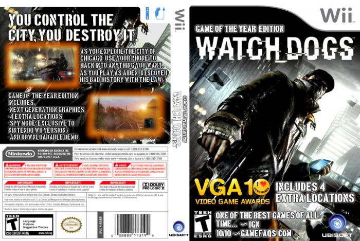 Watch Dogs Wii Box Art Cover by donnyfan  Watch