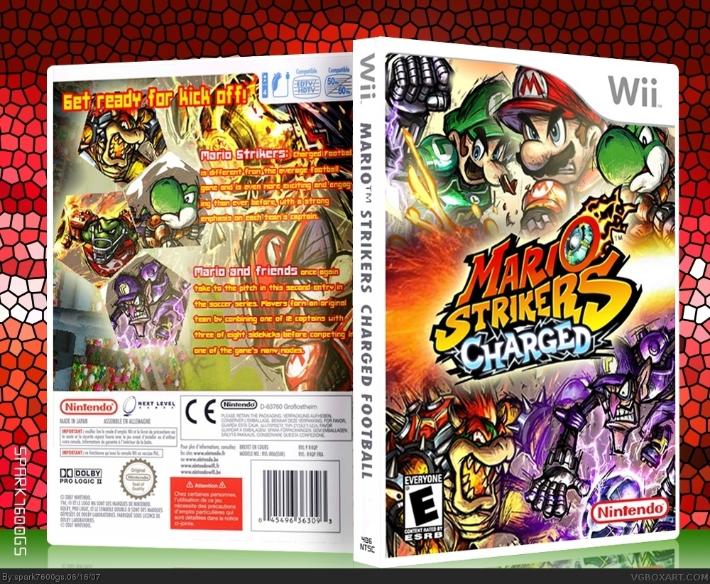 Mario Strikers Charged Wii Box Art Cover By Spark7600gs