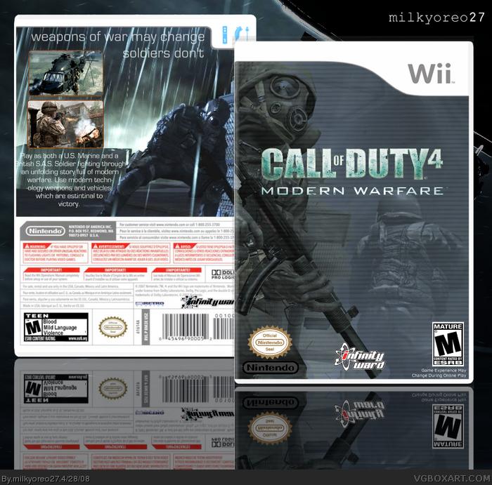 Wii » Call of Duty 4: Modern Warfare Box Cover