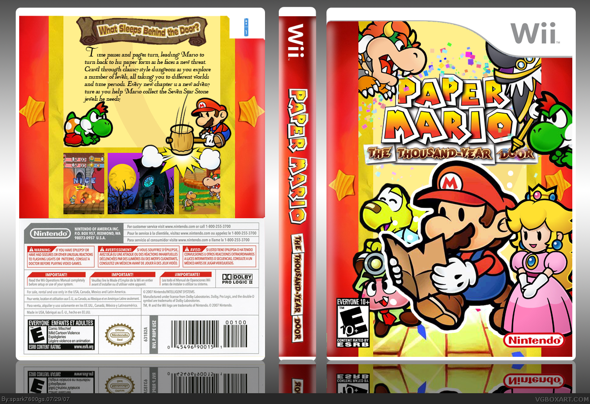 Paper Mario: The Thousand-Year Door box cover