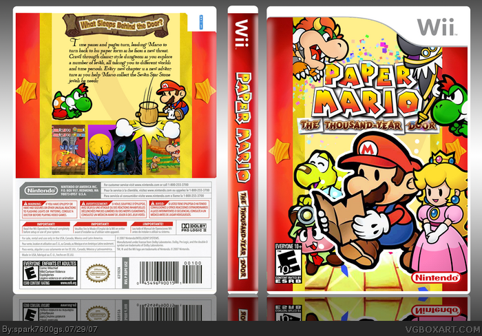 Paper mario the thousand year door wii box art cover by for 1000 year door