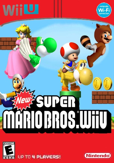 New Super Mario Bros  Wii U Wii U Box Art Cover by Kyopaka