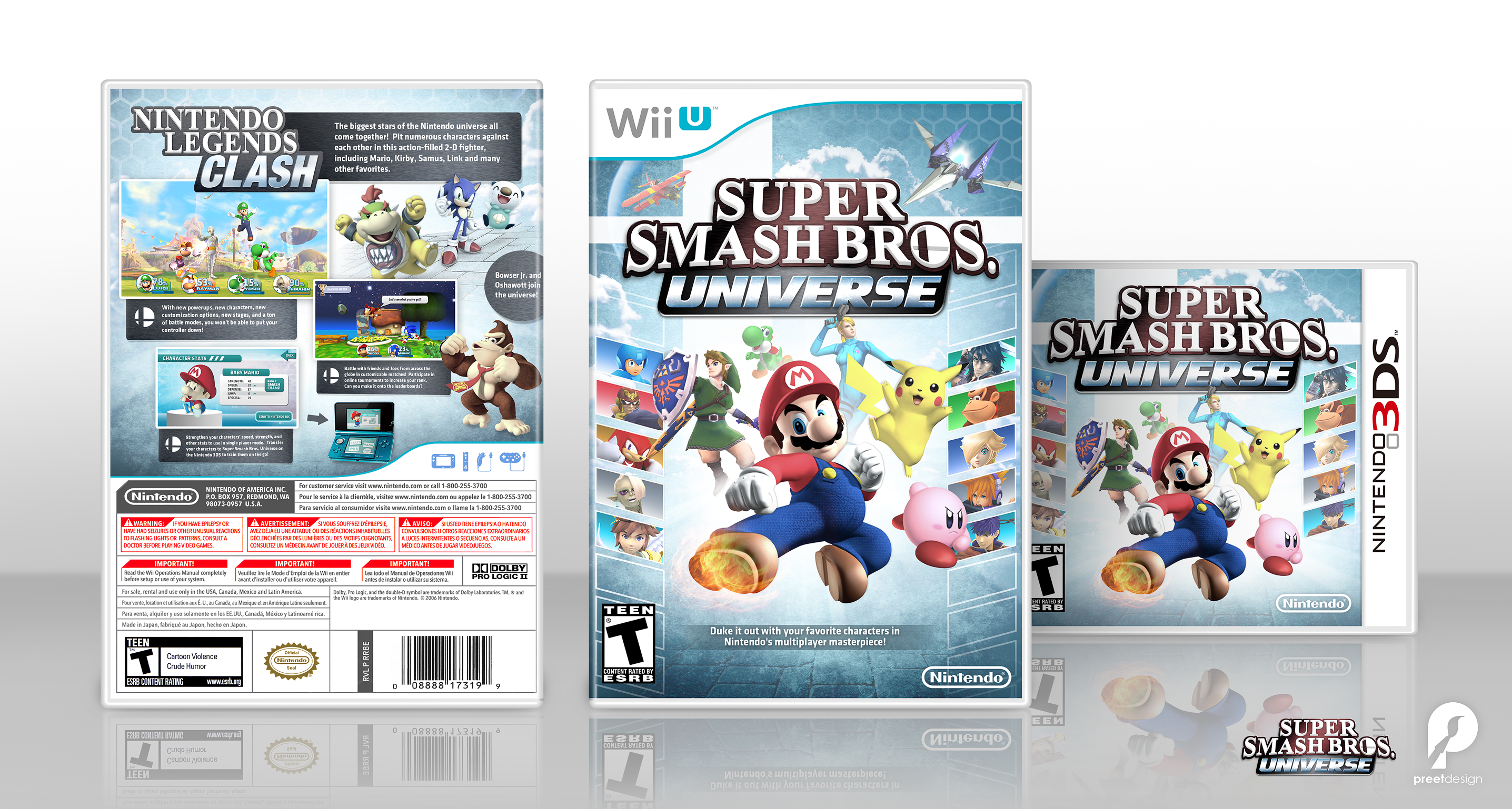 Super Smash Bros. Universe Wii U Box Art Cover by YoshiStar