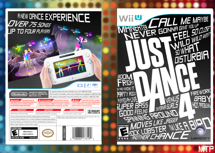 Just Dance 4 box art cover