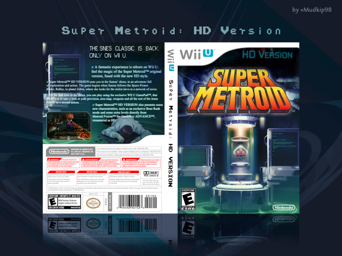Super Metroid: HD Version box art cover