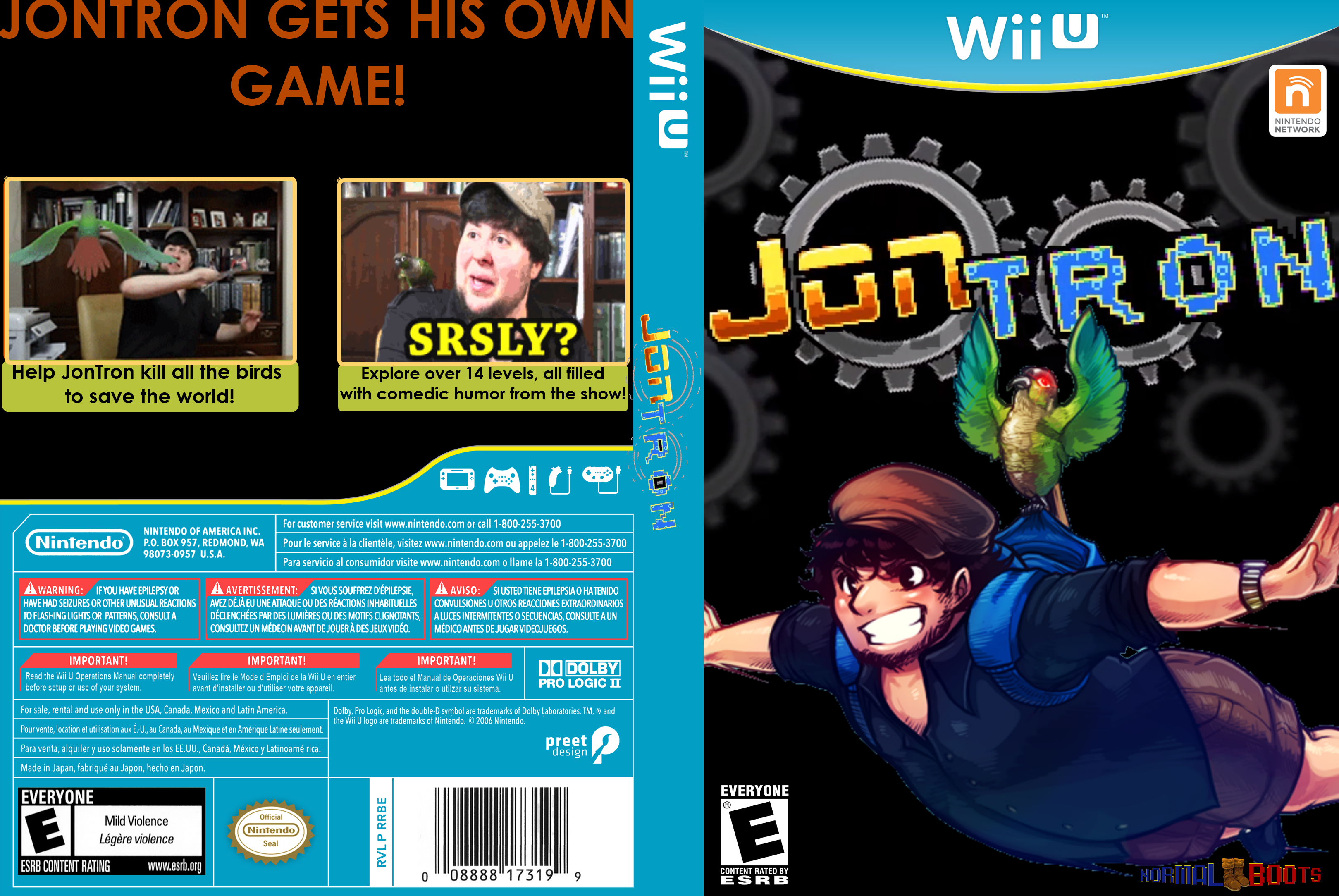 JonTron - The Video Game Wii U Box Art Cover by DiscordThePony