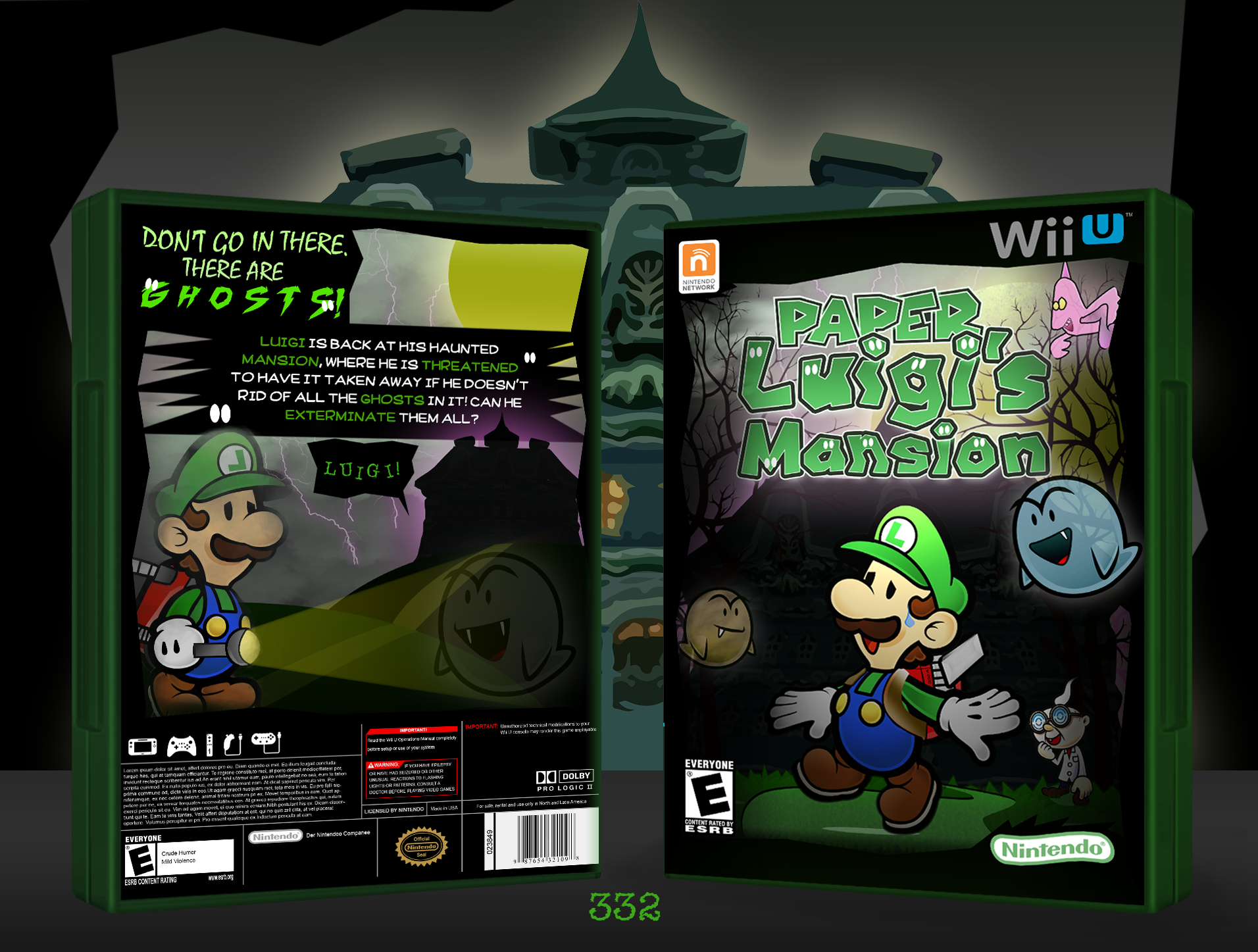 Paper Luigi's Mansion Box Cover Comments