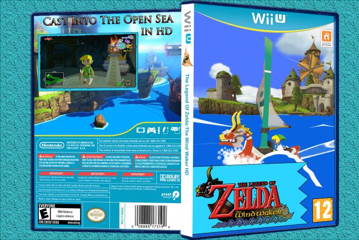 Wii U » The Legend Of Zelda Wind Waker HD Box Cover