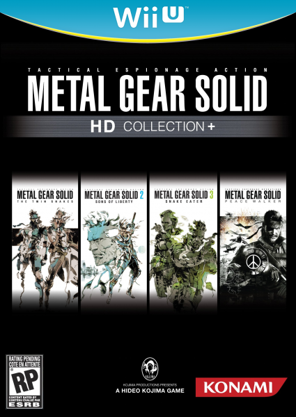 Metal Gear Solid Hd Collection Plus Wii U Box Art Cover By