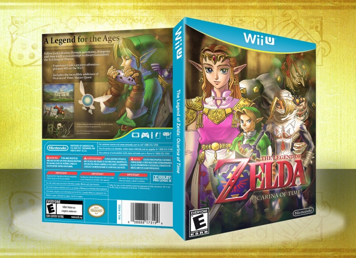 Wii U » The Legend of Zelda: Ocarina of Time Box Cover
