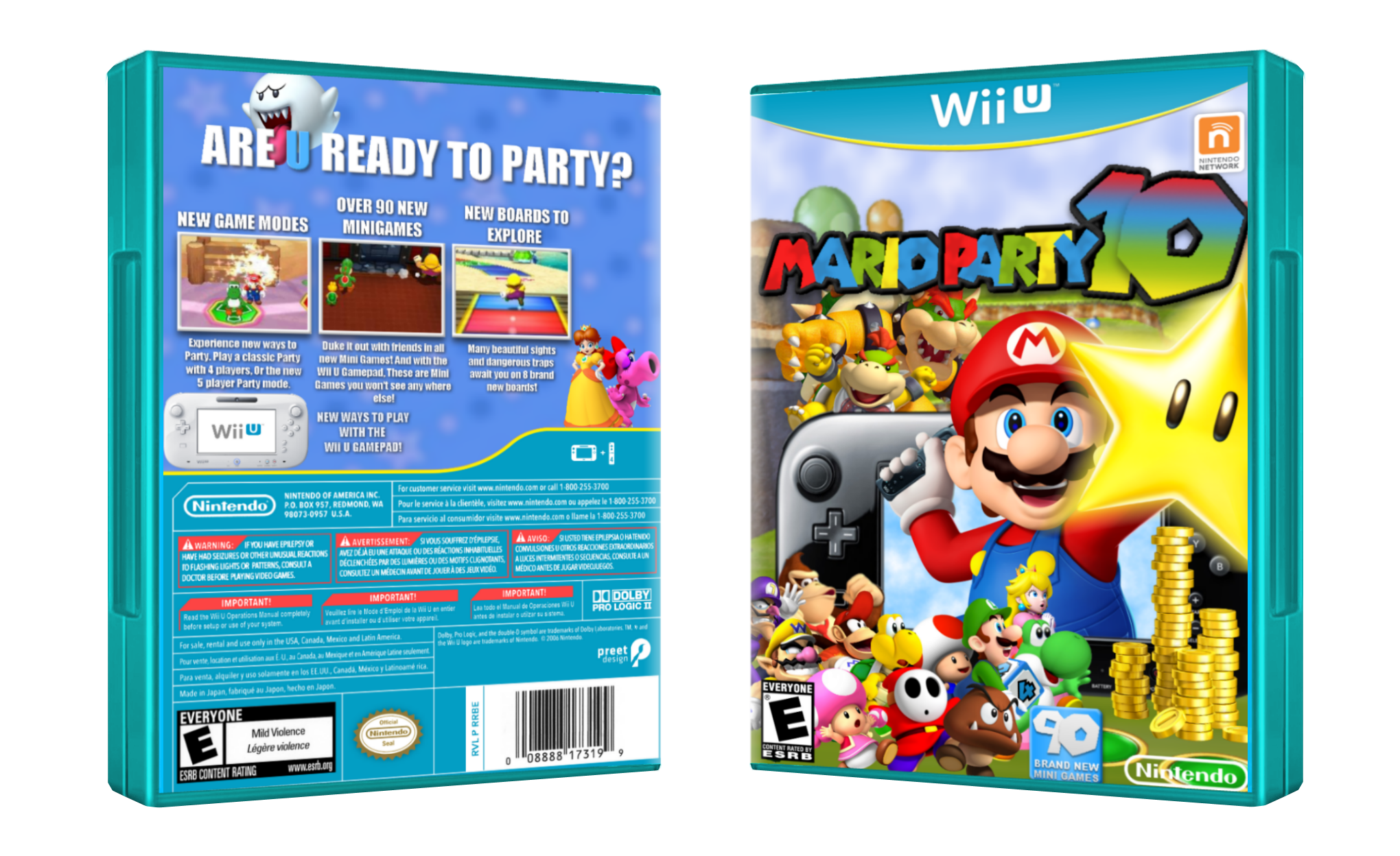 Viewing full size Mario Party 10 box cover