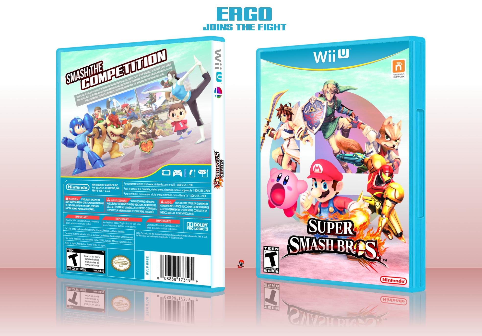 Super Smash Bros For Wii U Wii U Box Art Cover By Ergo