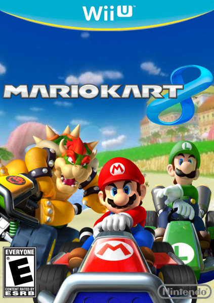 Mario kart 8 wii u box art cover by thunderblock