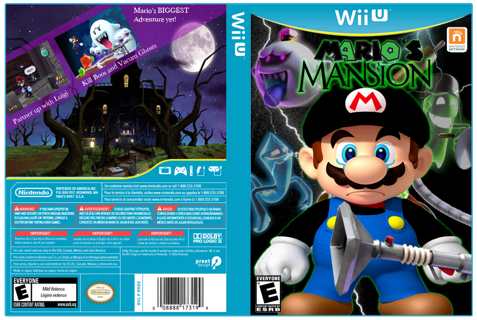 Viewing full size Mario's Mansion box cover by Tallahassee [ Back ... Uma Thurman
