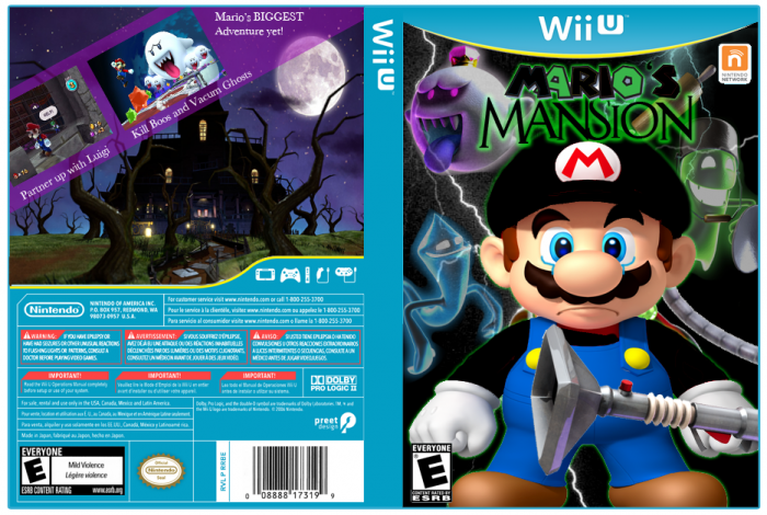 Mario S Mansion Wii U Box Art Cover By Tallahassee