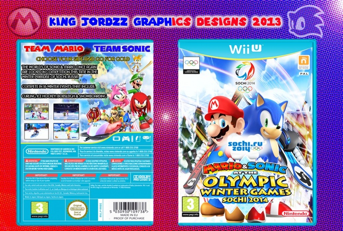 Mario & Sonic At The Winter Games 2014 Sochi box art cover