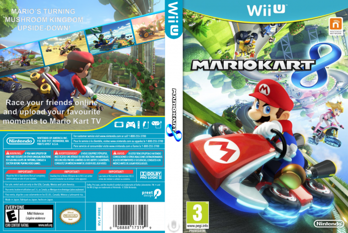 mario kart 8 wii u box art cover by wiluigi. Black Bedroom Furniture Sets. Home Design Ideas