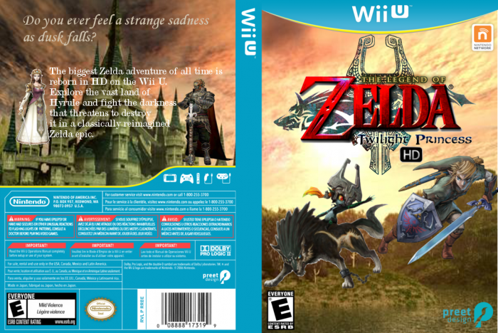 The legend of zelda twilight princess hd wii u box art cover by