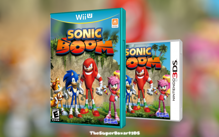 sonic boom wii u box art cover by thesuperboxart3ds