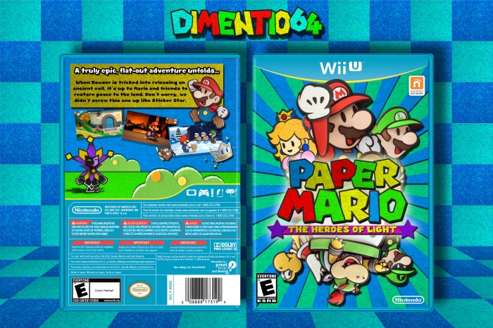 Paper Mario: The Heroes of Light box art cover