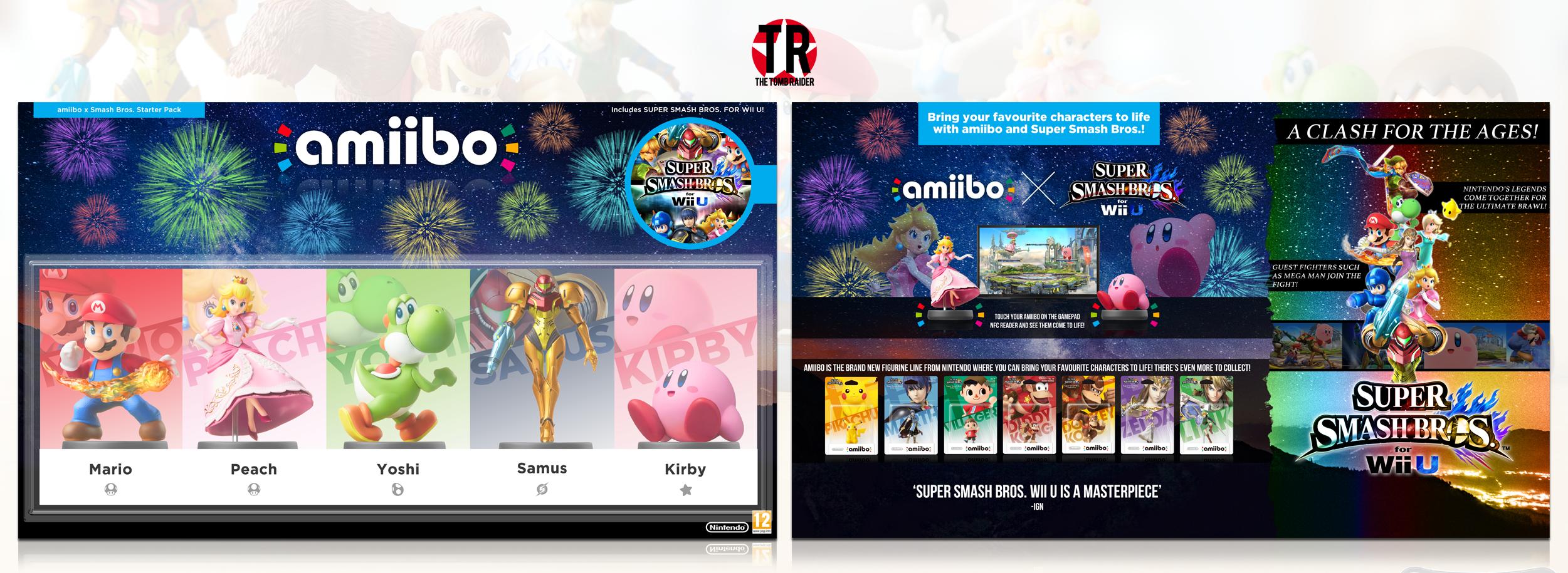 Amiibo X Super Smash Bros For Wii U Wii U Box Art Cover
