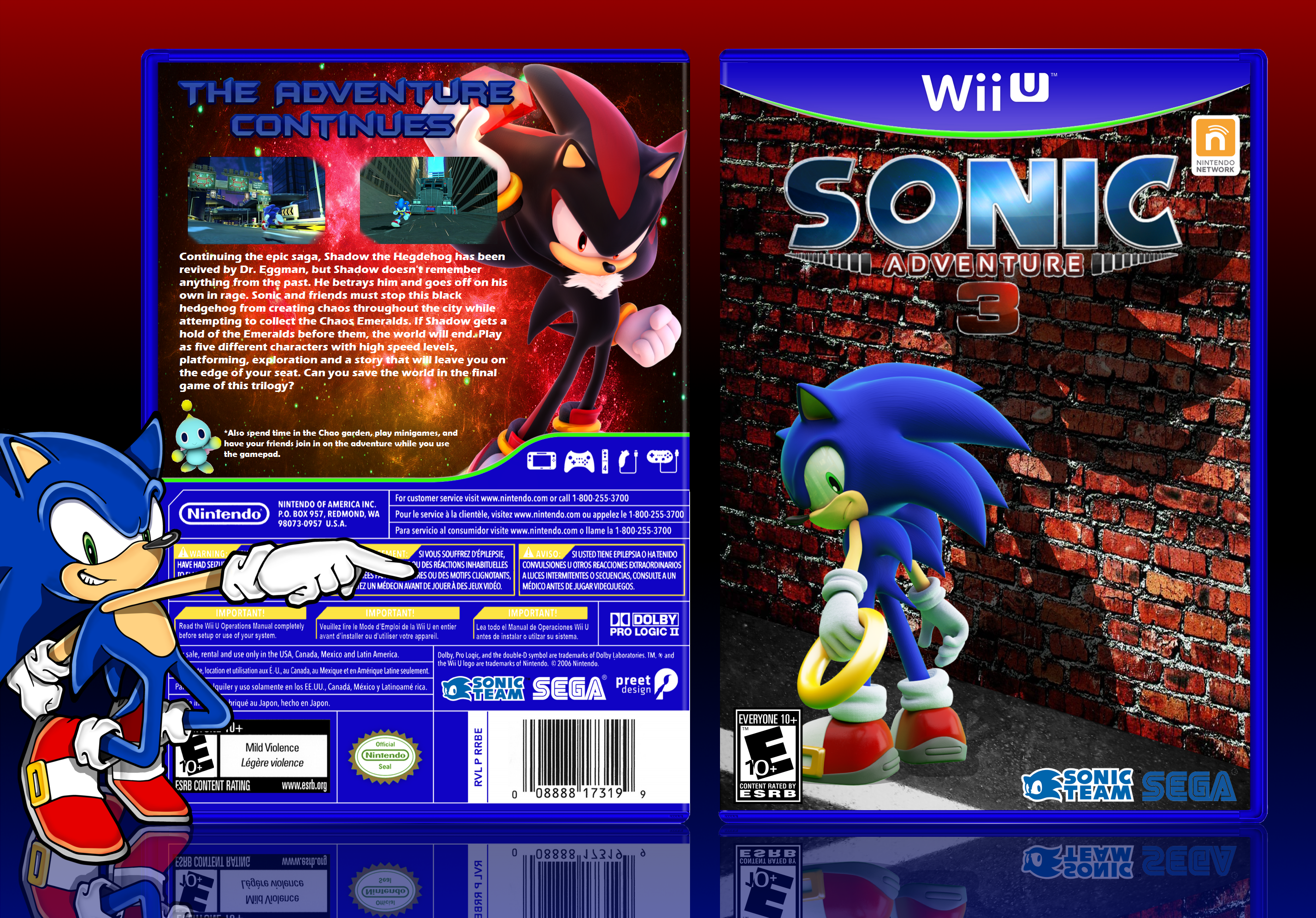 Viewing full size Sonic Adventure 3 box cover