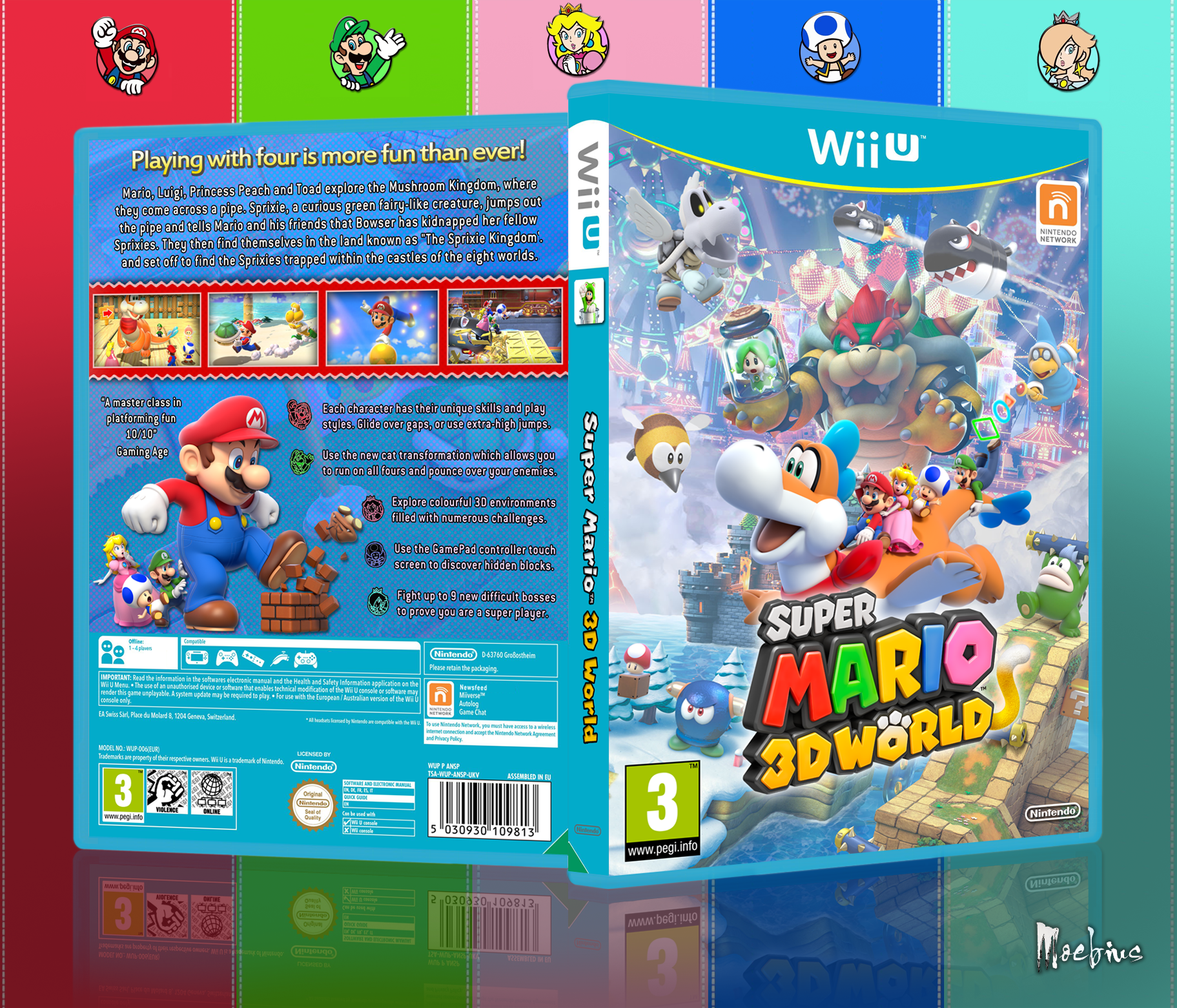 how to play super mario 3d world wii u