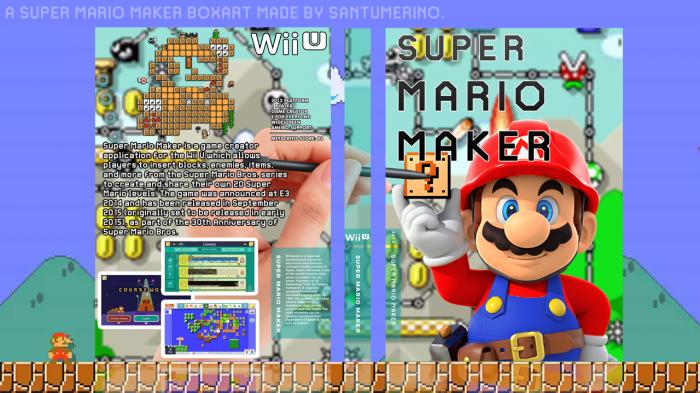 Super Mario Maker Wii U Box Art Cover by santumerino