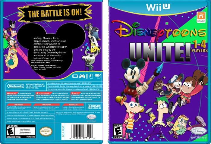 Disney Toons Unite! box art cover