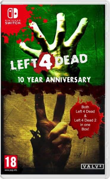 Left 4 Dead 10th Aanniversary box for Switch box art cover
