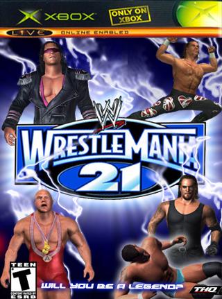 Wwe wrestlemania 21 (2005) xbox box cover art mobygames.