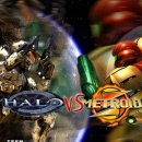 Halo vs Metroid Box Art Cover