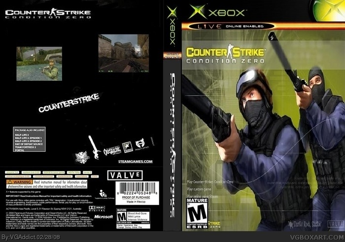 Counter Strike Xbox Box Art Cover By Vgaddict