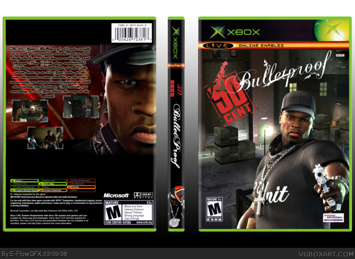 50 Cent Bulletproof box art cover