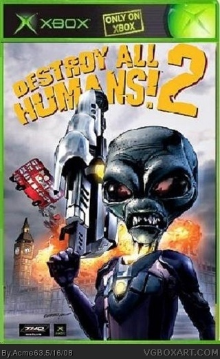 Destroy All Humans 2 box cover