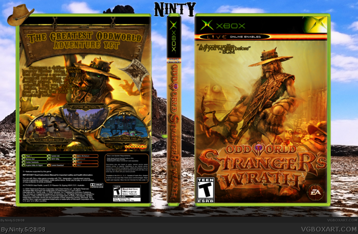 Oddworld Stranger's Wrath box art cover