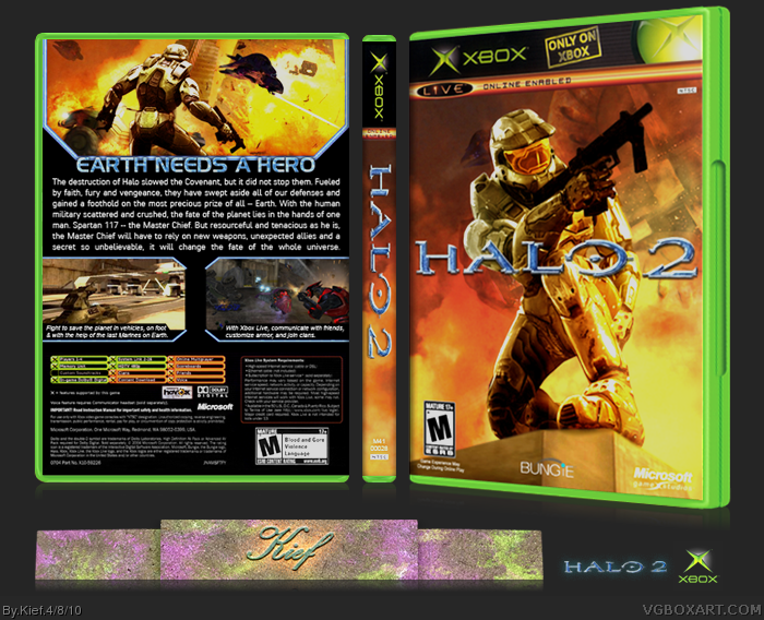 Halo 2 box cover