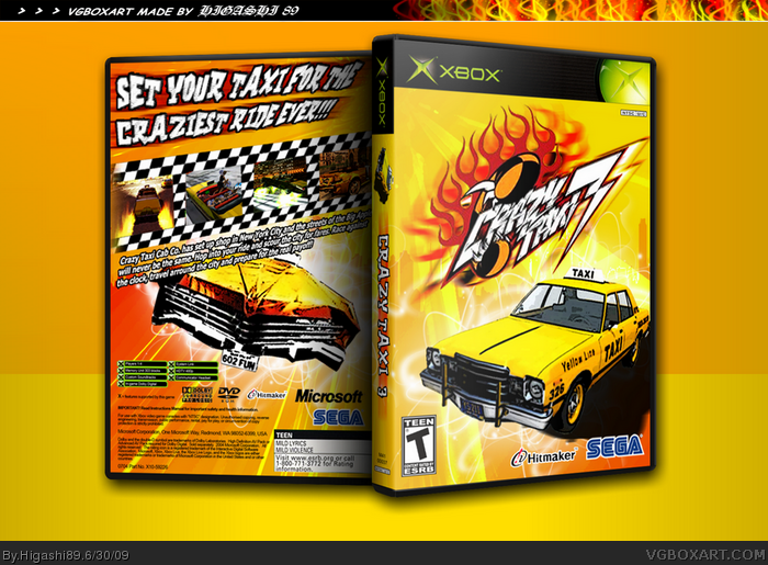 Crazy Taxi 3 box art cover