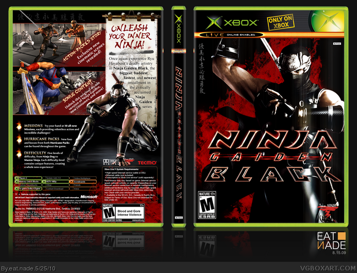 Ninja Gaiden Black box art cover