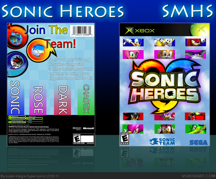 Sonic Heroes box art cover