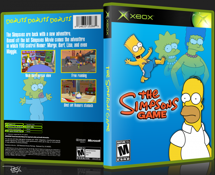 The Simpsons Game box art cover