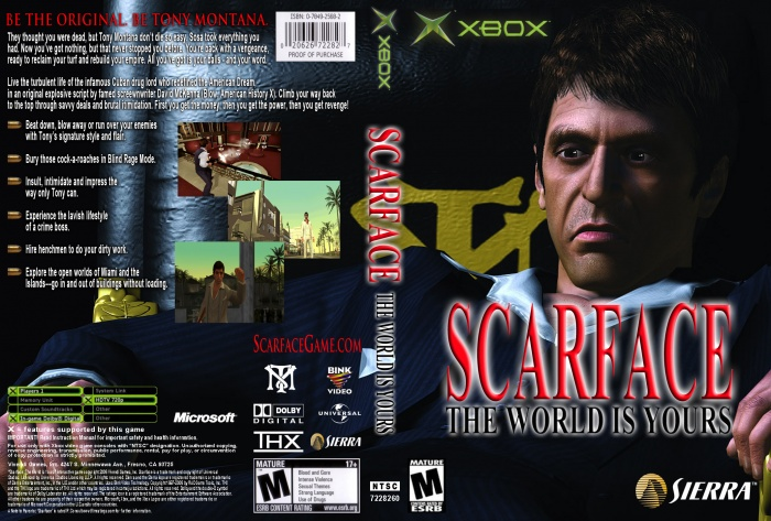 Scarface The World Is Yours CUSTOM box art cover