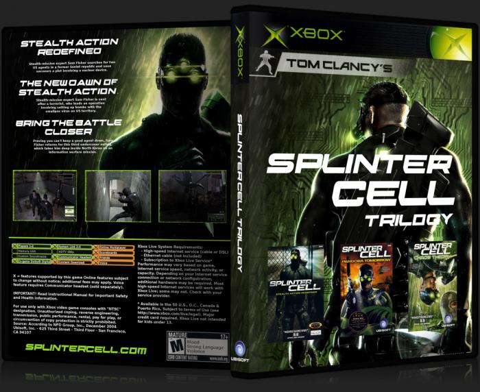 Splinter Cell Trilogy Xbox Box Art Cover By Sc Spacetastic