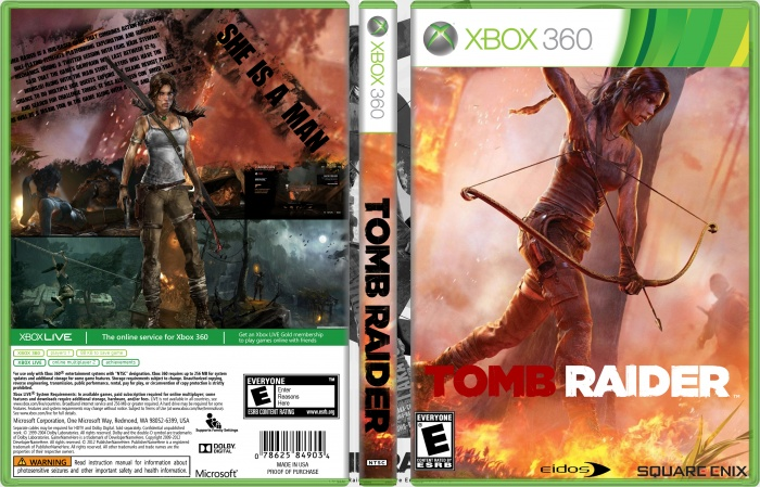 Tomb Raider 2013 Xbox Box Art Cover by mehrdadjoon