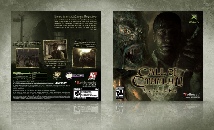 Call of Cthulhu: Dark Corners of the Earth box art cover