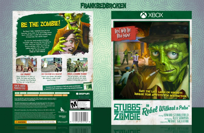 Stubbs The Zombie In Rebel Without A Pulse box art cover