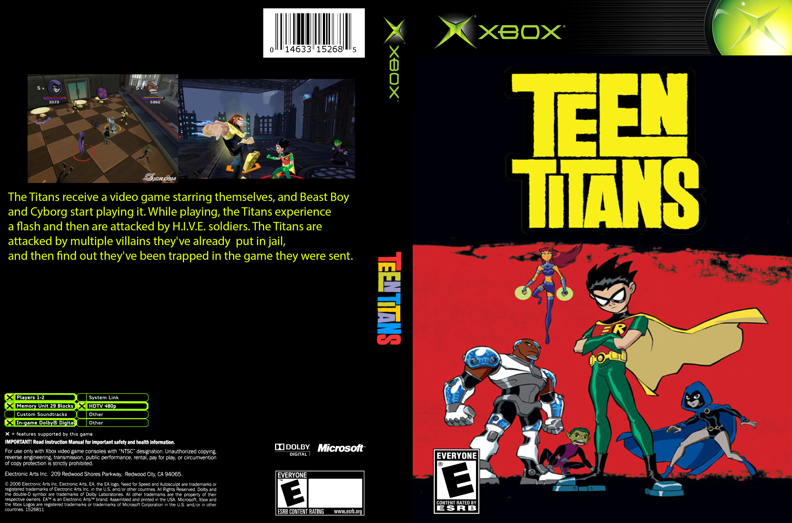 Teen Titans box cover