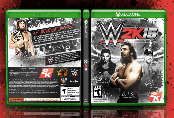 Book Cover Handmade Xbox One ~ Wwe k cover pixshark images galleries with